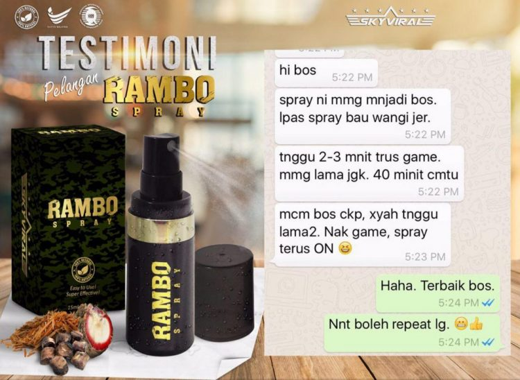 rambo spray murah
