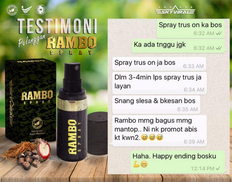 testimoni rambo spray